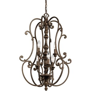 Kichler Six Light Terrene Bronze Up Chandelier - 43282TRZ