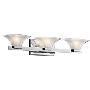 Kichler Three Light Chrome Vanity - 45038CH