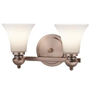 Kichler Two Light Classic Bronze Vanity - 45047CLZ