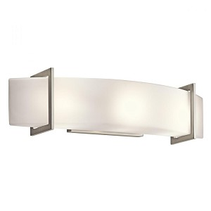 Kichler Three Light Brushed Nickel Vanity - 45220NI