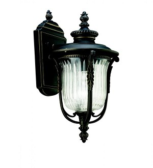 Kichler One Light Rubbed Bronze Wall Lantern - 49001RZ