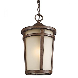 Kichler One Light Brown Stone Hanging Lantern - 49075BST