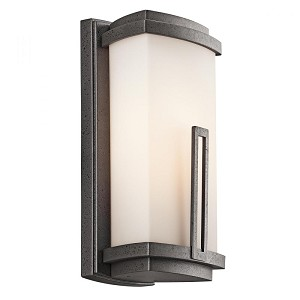 Kichler One Light Anvil Iron Outdoor Wall Light - 49110AVIFL
