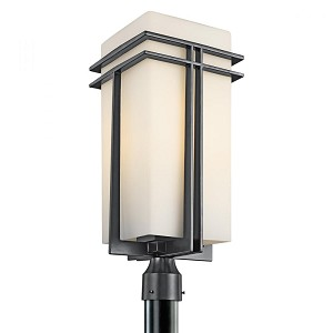 Kichler One Light Black (painted) Post Light - 49204BKFL