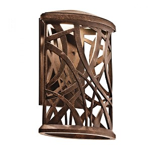 Kichler Aged Bronze Outdoor Wall Light - 49248AGZLED