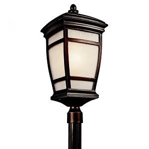 Kichler One Light Rubbed Bronze Post Light - 49275RZ