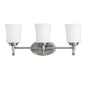 Kichler Three Light Brushed Nickel Vanity - 5361NI