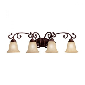 Kichler Four Light Carre Bronze Vanity - 5990CZ