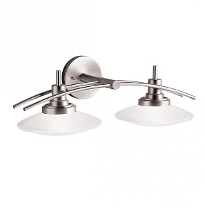 Kichler Two Light Brushed Nickel Vanity - 6162NI