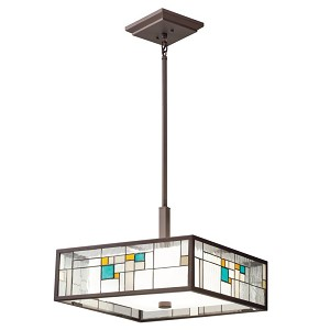 Kichler Four Light Olde Bronze Down Pendant - 65392