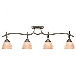 Kichler Four Light Olde Bronze Directional Flush Mount - 7703OZ