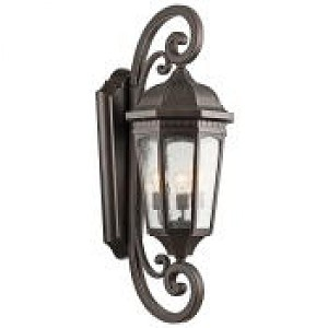Kichler Three Light Rubbed Bronze Wall Lantern - 9060RZ