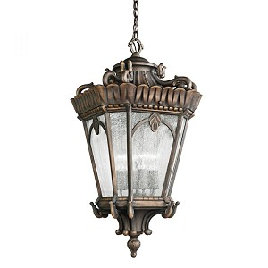 Kichler Four Light Textured Black Hanging Lantern - 9564BKT