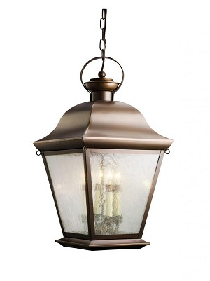 Kichler Four Light Black (painted) Hanging Lantern - 9804BK