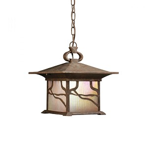 Kichler One Light Distressed Copper Hanging Lantern - 9837DCO