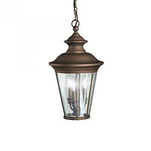 Kichler Three Light Olde Bronze Hanging Lantern - 9847OZ