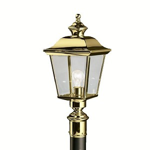 Kichler One Light Polished Brass Post Light - 9913PB