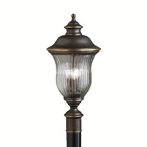 Kichler Three Light Olde Bronze Post Light - 9932OZ