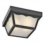 Kichler One Light Black (painted) Outdoor Flush Mount - 11026BK