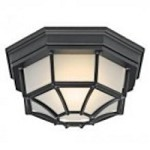 Kichler One Light Black (painted) Outdoor Flush Mount - 11028BK