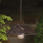 Kichler Landscape One Light Textured Tannery Bronze Outdoor Pendant - 15499TZT