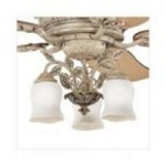 Kichler Three Light Antique Marble W/silver Fan Light Kit - 380005AMS