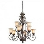 Kichler Nine Light Legacy Bronze Up Chandelier - 42511LZ