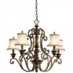 Kichler Five Light Terrene Bronze Up Chandelier - 43279TRZ
