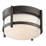 Kichler One Light Anvil Iron Outdoor Flush Mount - 49125AVI