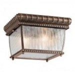 Kichler Two Light Bronze Outdoor Flush Mount - 49136BRZ