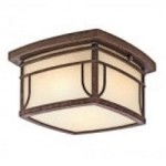Kichler Two Light Aged Bronze Outdoor Flush Mount - 49153AGZVM
