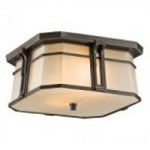 Kichler Two Light Olde Bronze Outdoor Flush Mount - 49181OZ