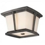 Kichler Two Light Anvil Iron Outdoor Flush Mount - 49220AVIFL