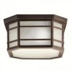 Kichler Three Light Prairie Rock Outdoor Flush Mount - 9811PR
