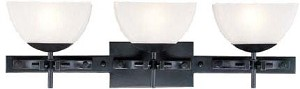 Lite Source Inc. 3-LITE VANITY LAMP, ANT./COPPER W/FROST GLASS SHADE, G 40Wx3 - LS-16533