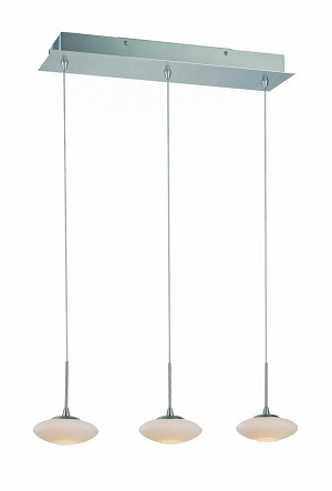 Lite Source Inc. 3-LITE CEILING LAMP, PS/FROST GLASS SHADE, TYPE JC/G4 20Wx3 - LS-19673PS/FRO