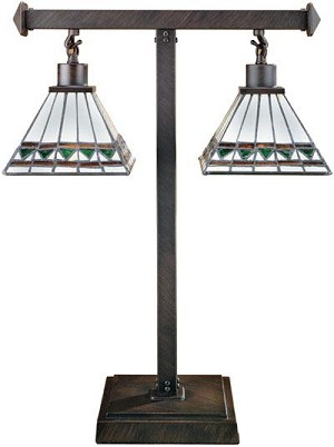 Lite Source Inc. 2-LITE TIFFANY TABLE LAMP, TYPE B 40Wx2 - LS-3580