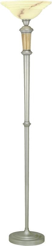 Lite Source Inc. TORCHIERE LAMP W/ALABASTER GLASS SHADE, TYPE A 150W (3-WAY) - LS-9838
