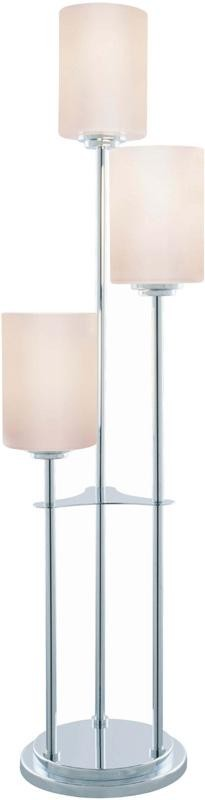 Lite Source Inc. 3-LITE TABLE LAMP, CHROME W/FROST GLASS SHADE, E27 CFL 13Wx3 - LSF-20700C