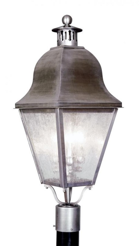 Vintage Pewter Post Light