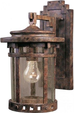 Maxim One Light Sienna Seedy Glass Wall Lantern - 3131CDSE