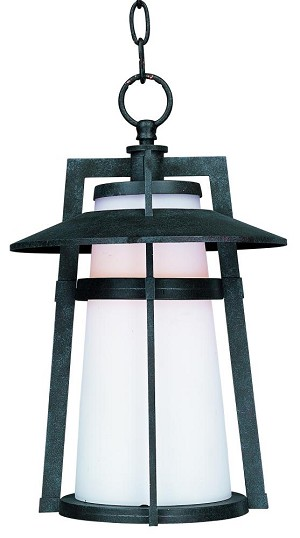 Maxim One Light Satin White Glass Adobe Hanging Lantern - 3539SWAE