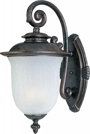 Maxim One Light Chocolate Frost Crackle Glass Wall Lantern - 86294FCCH