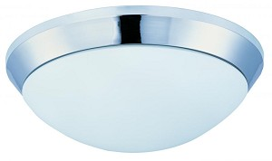 Maxim Polished Chrome Satin White Glass Bowl Flush Mount - 87566SWPC