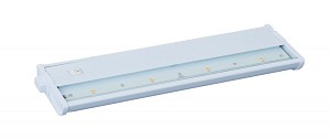 Maxim Four Light White Clear Glass LED Undercabinet Light - 89913WT