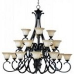 Maxim Twenty Light Oil Rubbed Bronze Wilshire Glass Up Chandelier - 13507WSOI