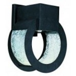 Maxim Black Oxide Krackle Glass Glass Wall Lantern - 18266KGBO