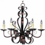 Maxim Six Light Oil Rubbed Bronze Up Chandelier - 20612OI
