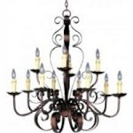 Maxim Twelve Light Oil Rubbed Bronze Up Chandelier - 20620OI