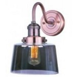 Maxim One Light Mirror Smoke Glass Antique Copper Outdoor Wall Light - 25089MSKACP/BUI